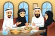 People celebrating  Eid-Al-fitr