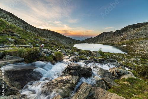 Staande foto Scandinavië Alpine waters
