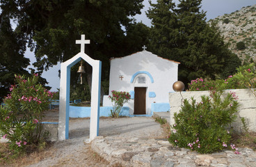 Traditional chapel at Kos island in Greece