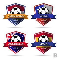Set of soccer ( football ) badge