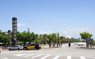 Paseo en la Villa Olímpica, Barcelona