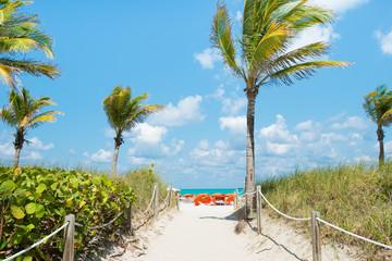 Sunny day in South Beach, Miami
