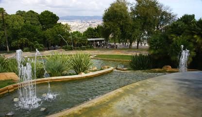 Fuente en la montaña de Montjuic, Barcelona