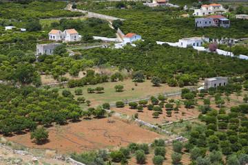 Vathi area at Kalymnos island in Greece