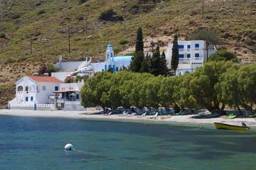 Emborios bay at Kalymnos island in Greece