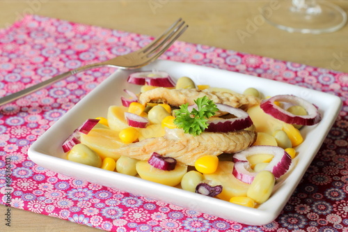 Potato and mackerel salad