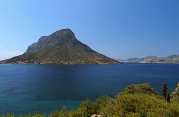 Telendos isle at Kalymnos island in Greece