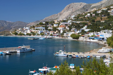 Port of Melitsahas at Kalymnos island in Greece.