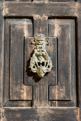 Wooden door closeup