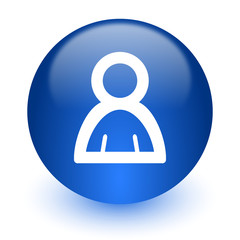 person computer icon on white background