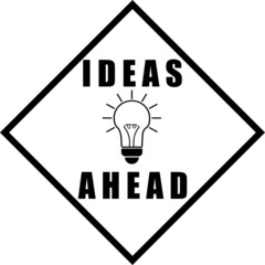 Ideas Ahead Line Art Sign