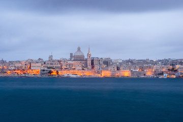 Valletta, capital of Malta at night