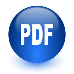 pdf computer icon on white background