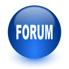 forum computer icon on white background