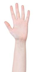 open five fingers hand gesture