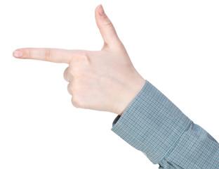 handgun - hand gesture