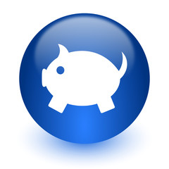 piggy bank computer icon on white background