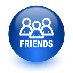 friends computer icon on white background