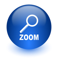 zoom computer icon on white background