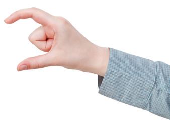 measuring of medium size - hand gesture
