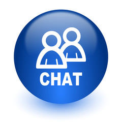 chat computer icon on white background
