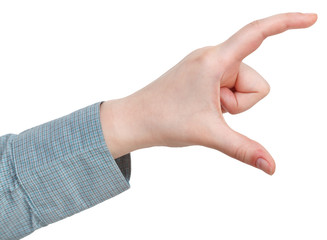 measuring of large size - hand gesture