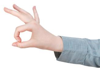 okay finger sign - hand gesture