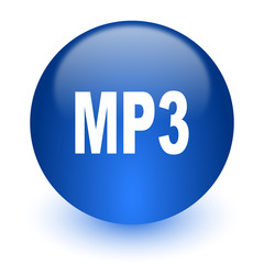 mp3 computer icon on white background