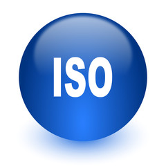 iso computer icon on white background