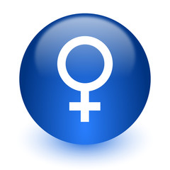 female computer icon on white background
