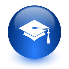 education computer icon on white background