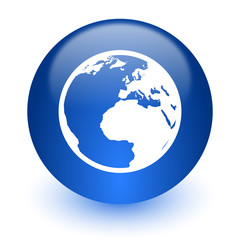 earth computer icon on white background