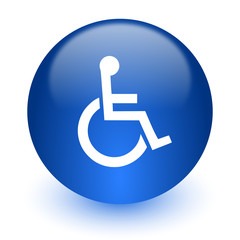 wheelchair computer icon on white background