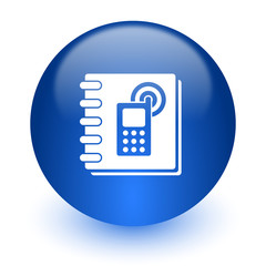 phonebook computer icon on white background