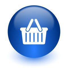 cart computer icon on white background
