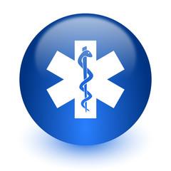 emergency computer icon on white background