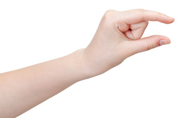 showing little size - hand gesture