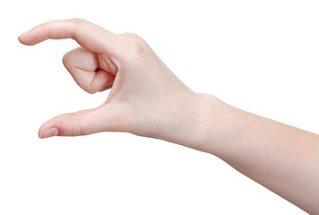 showing medium size - hand gesture