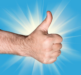 Thumb  up sign