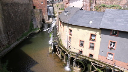 Old water mill in small town Saarburg (Germany).