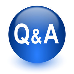 question answer computer icon on white background