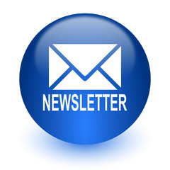 newsletter computer icon on white background