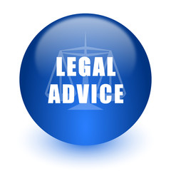 legal advice computer icon on white background