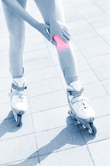 Knee pain during roller blading