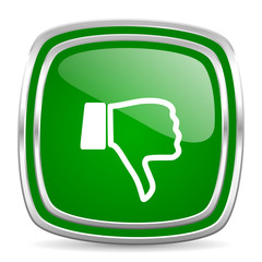 dislike glossy computer icon on white background