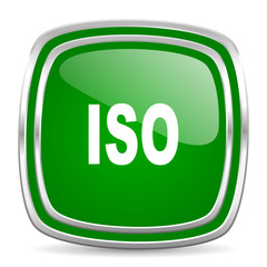 iso glossy computer icon on white background