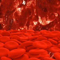 Blood cells - 3d Rendering