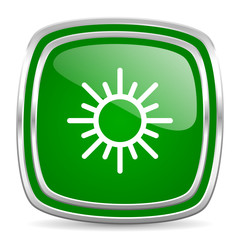 sun glossy computer icon on white background