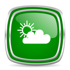 cloud glossy computer icon on white background