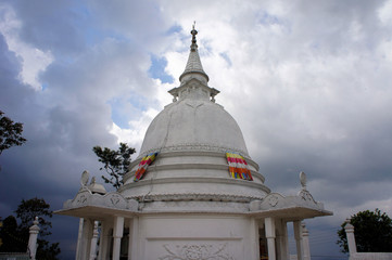 Buddhist hill temple, Sri Lanka